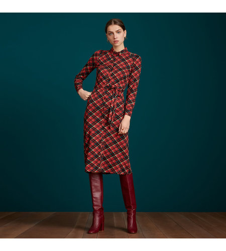 King Louie Rosie Dress Slim Fit Chatham Icon Red