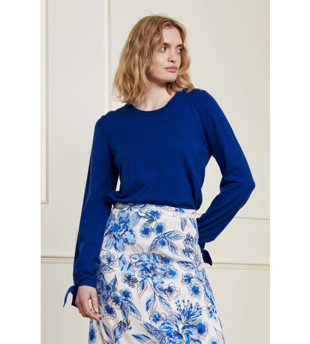 Fabienne Chapot Molly Bow Pullover Cobalt