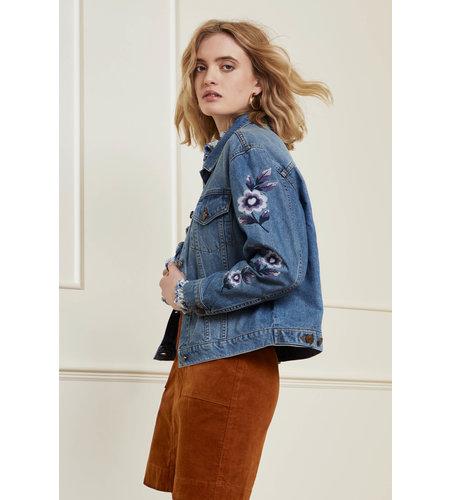 Fabienne Chapot Camille Embro Jacket Light Medium Denim