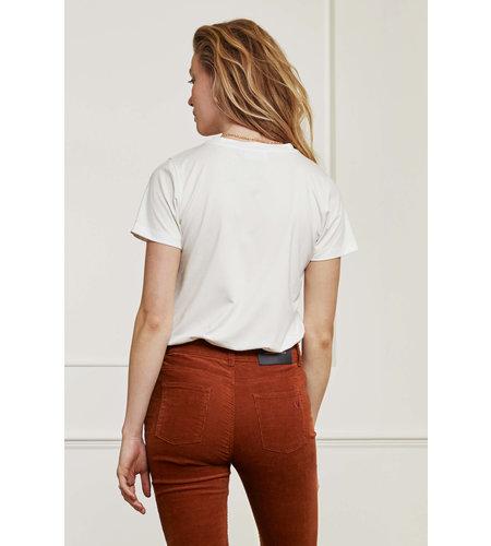 Fabienne Chapot Terry Pia T Shirt Cream White