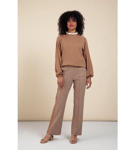 Studio Anneloes Rae Skittle Trousers Caramel Greige