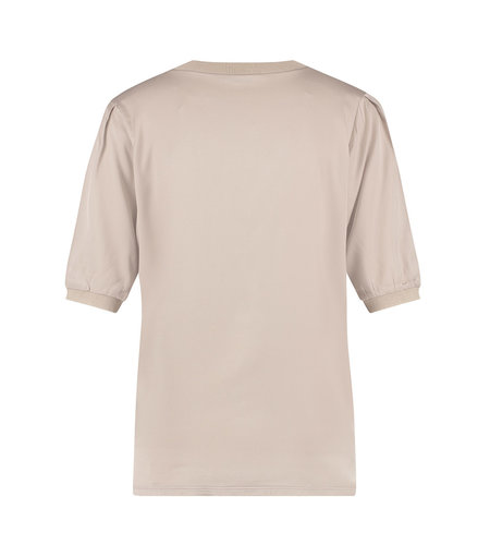 Studio Anneloes Eliza Satin Rib Shirt Greige