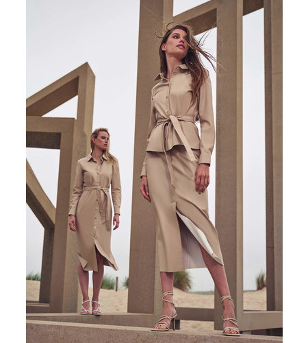 Fifth House Mace Belted Blouse Pastry