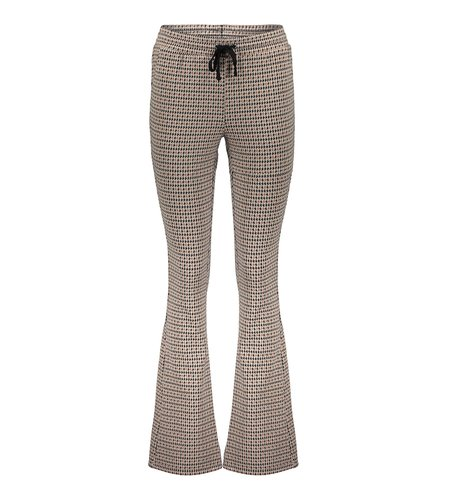 Geisha Pants Flair Pied De Poule 11560-21 Black Off White Brique