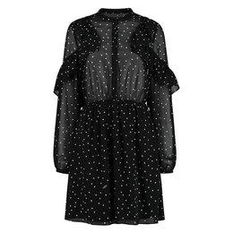 NIKKIE Dotted Ruffle Dress