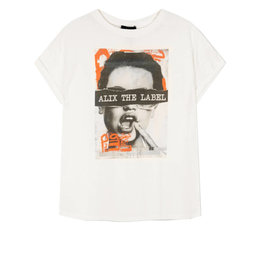 Alix The Label Knitted Boxy Photo T Shirt