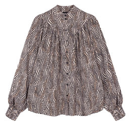 Alix The Label Woven Dots Animal Blouse