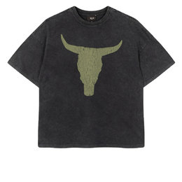 Alix The Label Knitted Boxy Bull T Shirt