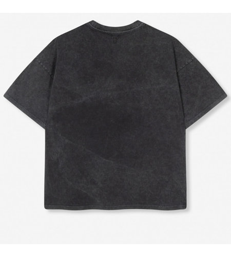 Alix The Label Knitted Boxy Bull T Shirt Black