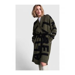 Alix The Label Knitted Tekst Jacquard Cardigan