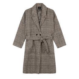 Alix The Label Woven Check Jacqaurd Coat