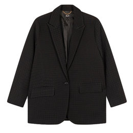 Alix The Label Woven Houndstooth Blazer