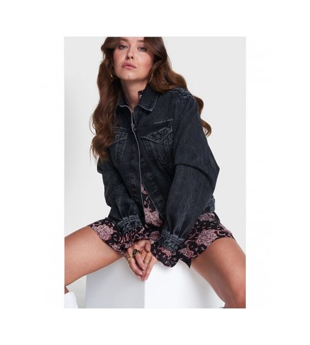 Alix The Label Woven Black Denim Jacket Black