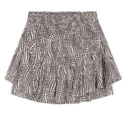 Alix The Label Woven Dots Animal Skirt