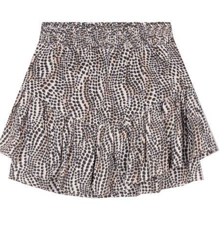 Alix The Label Woven Dots Animal Skirt Animal