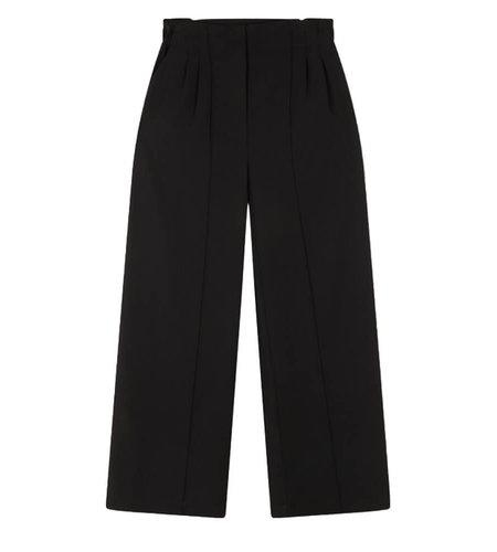 Alix The Label Woven Crepe Wide Leg Pants Black