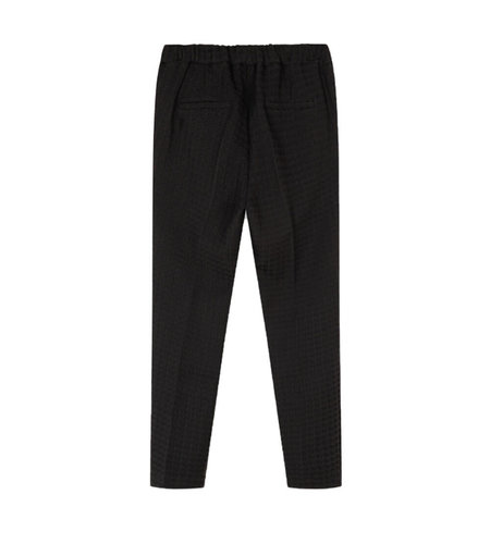 Alix The Label Woven Houndstooth Pants Black
