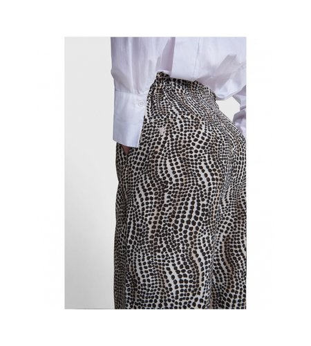 Alix The Label Woven Dots Animal Wide Leg Pants Animal
