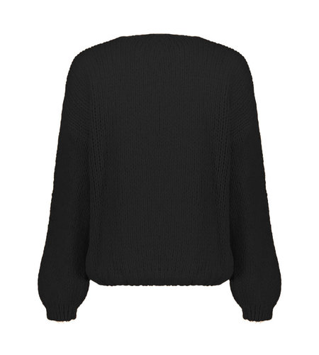 Geisha Cardigan Solid 14625-70 Black