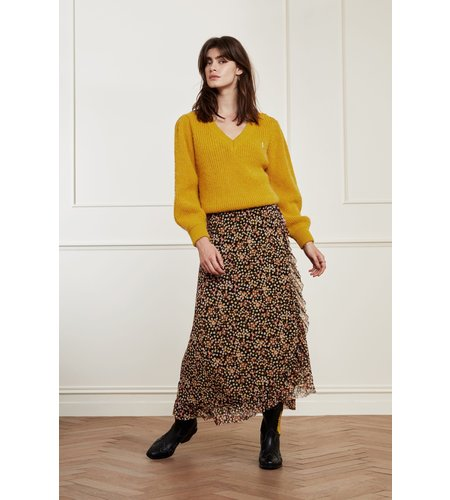 Fabienne Chapot Starry V-Neck Pullover Saffron