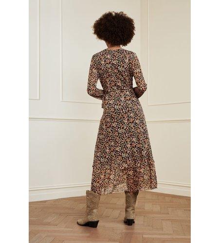 Fabienne Chapot Natasja Frill Dress Black Lovely Pink