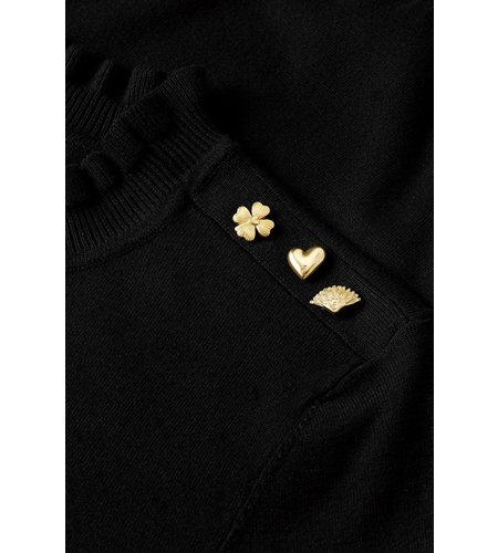 Fabienne Chapot Molly Frill Pullover Black