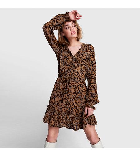 Alix The Label Woven Tiger Head Dress Warm Camel