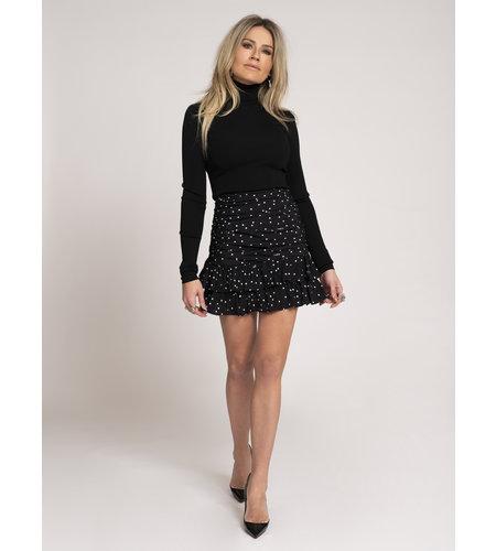 NIKKIE Polka Dot Skirt Black