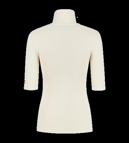 NIKKIE Jolie Turtle Short Sleeve Top Cream