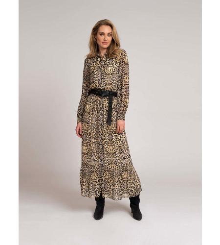 Fifth House Sierra Maxi Dress Rattan Leopard