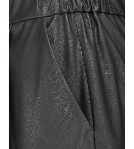 Jane Lushka Leather Skirt Viki Black