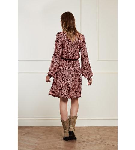 Fabienne Chapot Dorien Frill Dress Lovely Pink Black