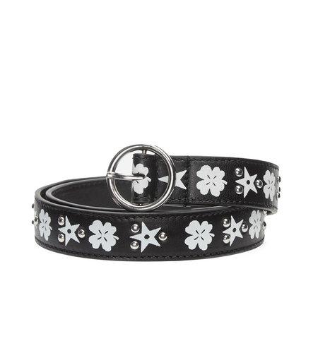 Fabienne Chapot Anais Belt Slim Black Cream White
