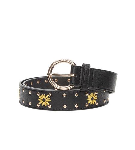 Fabienne Chapot Sunflower Studded Belt Black Yellow