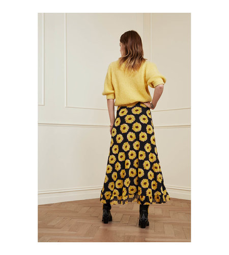 Fabienne Chapot Bobo Frill Skirt Black Saffron
