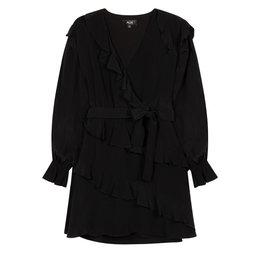 Alix The Label Woven Shiny Crepe Short Dress