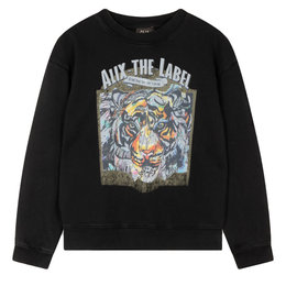 Alix The Label Knitted Organic Tiger Oversized Sweater