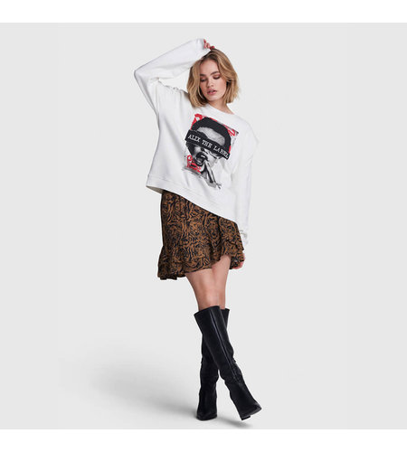 Alix The Label Knitted Organic Photo Oversized Sweater Soft White