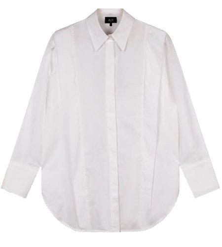 Alix The Label Woven Poplin Blouse Soft White