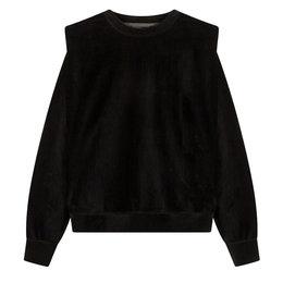 Alix The Label Knitted Rib Velvet Sweater