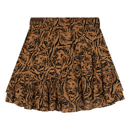 Alix The Label Woven Tiger Head Skirt