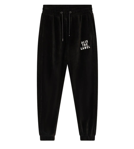Alix The Label Knitted Rib Velvet Pants Black