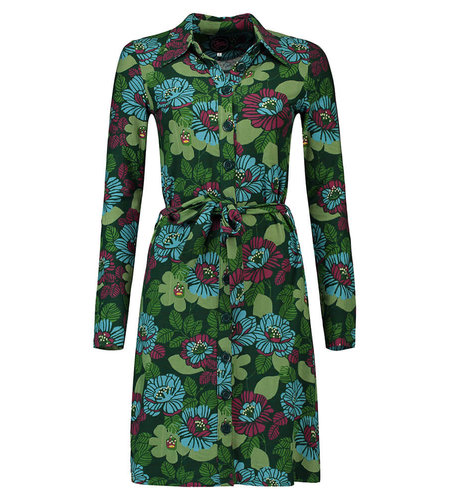 Tante Betsy Shirtdress Forest Green