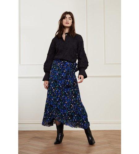 Fabienne Chapot Natasja Frill Dress Black Mint