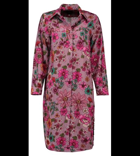 Tante Betsy Shirt Dress Long Powder Blom Pink