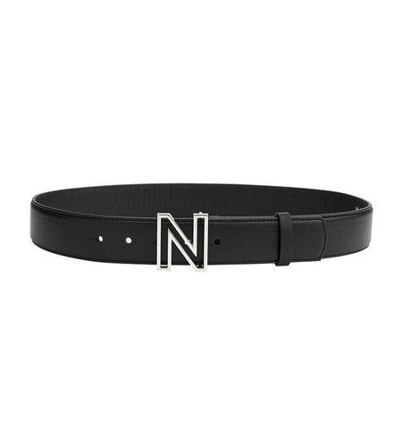 NIKKIE N Logo Hip Belt Black Nickel