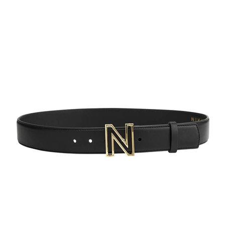 NIKKIE N Logo Hip Belt Black Gold