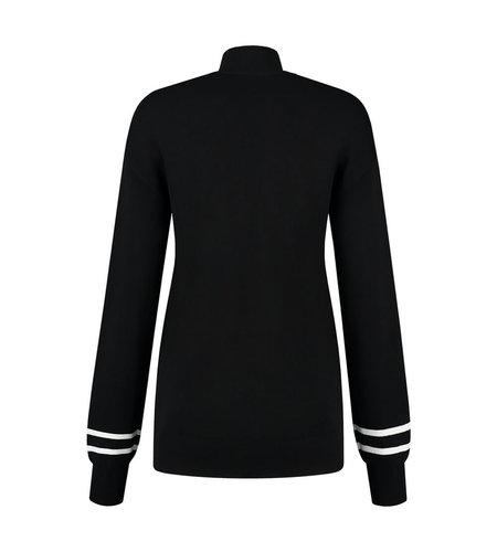 NIKKIE Logo Patch Sweater Black