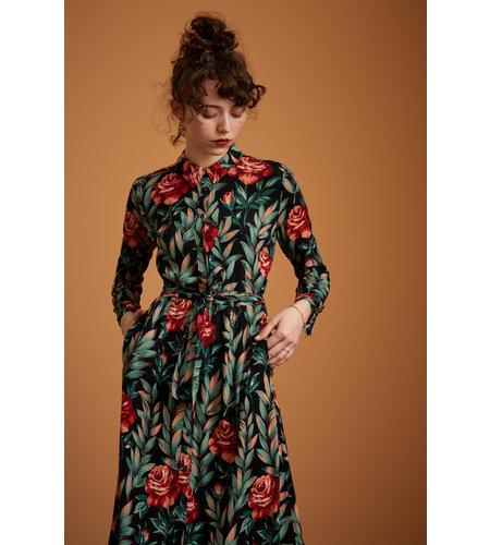 King Louie Rosie Midi Dress Florence Black