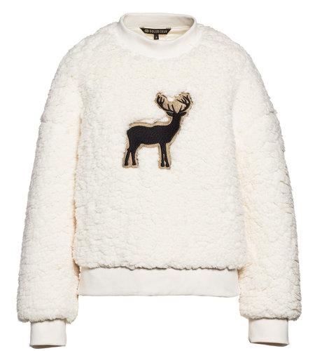 Goldbergh Deer teddy Sweater Off White